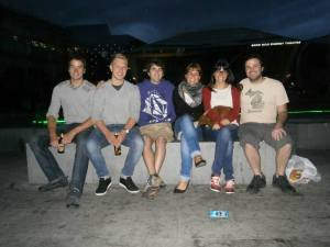 The Dublin Gang. New friends from Belgium, Finland, and Spain.