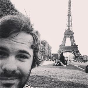 Me at the Eiffel Tower Paris, France
